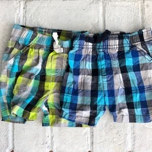 Lot of 2 Pairs of Baby Boy Checkered Shorts